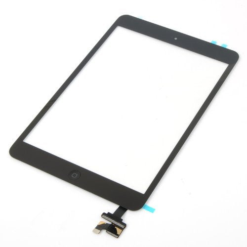Apple iPad Mini Replacement Glass Digitizer with IC chip and Home button assembly - Black