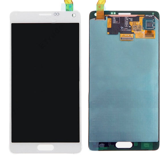 Samsung Galaxy Note 4 N910 N910S N910C N910A N910V N910P N910R N910T White full LCD without frame