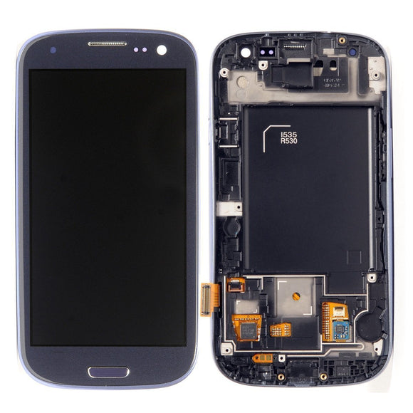 Samsung Galaxy S3 SIII GT-i9300 Blue full LCD with frame i535