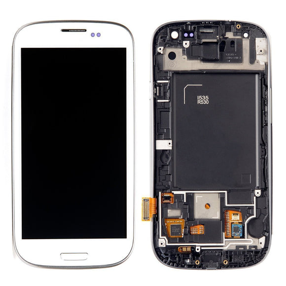 Samsung Galaxy S3 SIII GT-i9300 White full LCD with frame i535