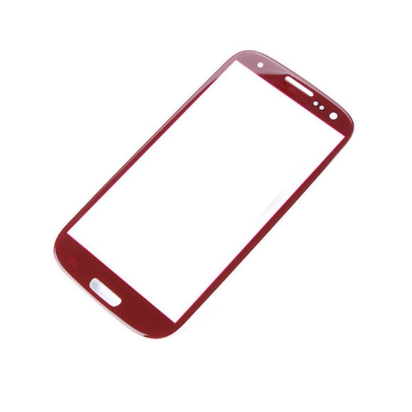 Samsung Galaxy S3 SIII GT-i9300 Glass lens Red