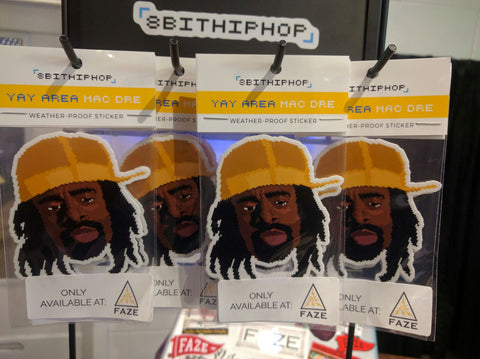 8BitHipHop - Mac Dre - Exclusive - Sticker - FAZE Apparel - Flagship - Store - New Release - 1