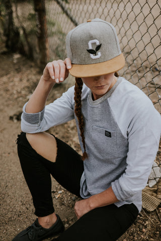 Create Karma Clothing - Growth Snapback in grey and brown - FAZE Apparel - Flagship Store - New Release - 1