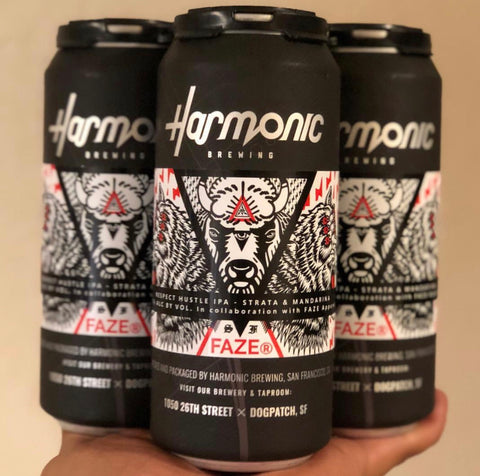FAZE Apparel - Harmonic Brewing - Respect Hustle IPA - Beer - Collaboration - San Francisco - 1