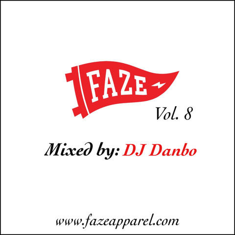 faze apparel - new music monday - volume 8 mix - DJ Danbo - Japan - cover - 1