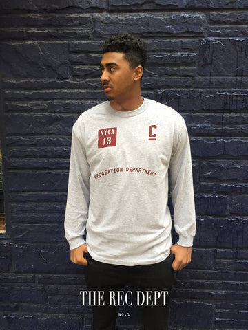 The Rec Dept. Captain Logo Long-Sleeve in athletic grey