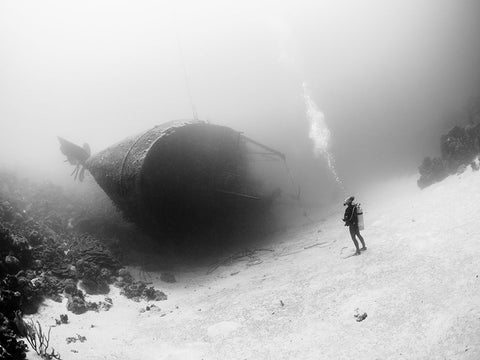 Fearless Friday - Fearless Pic of the Week - Diver - Wreck - Bonaire - National Geographic - FAZE Apparel - 1