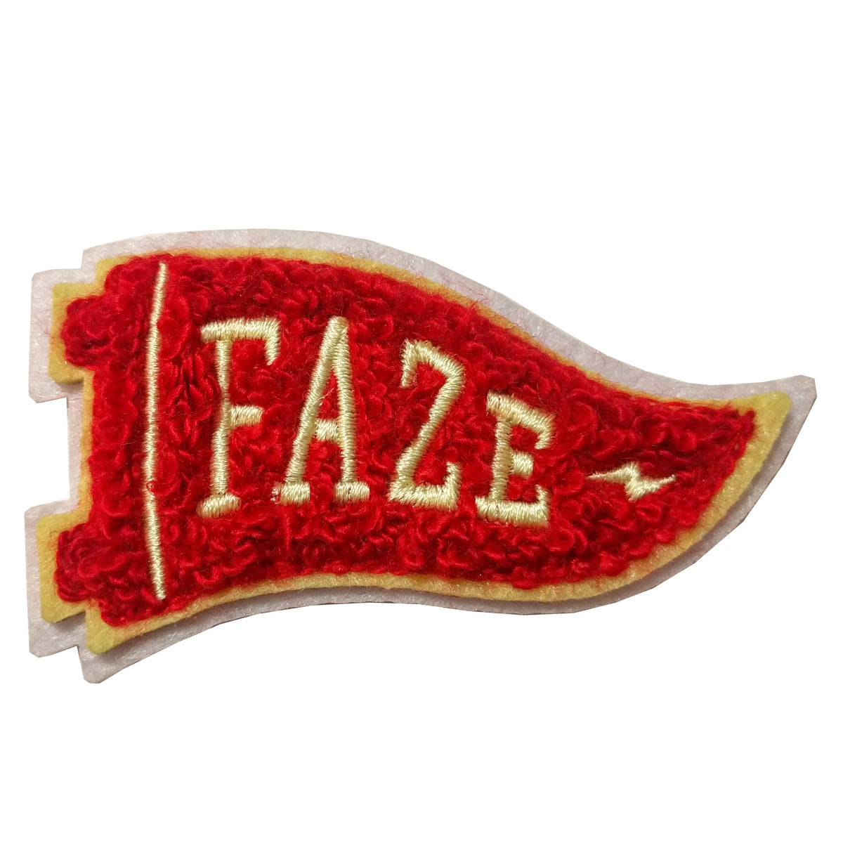 faze flag chenille patch in red faze apparel