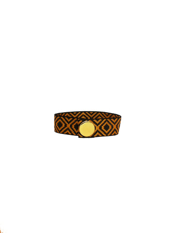 BROWN JACQUARD BRACELET