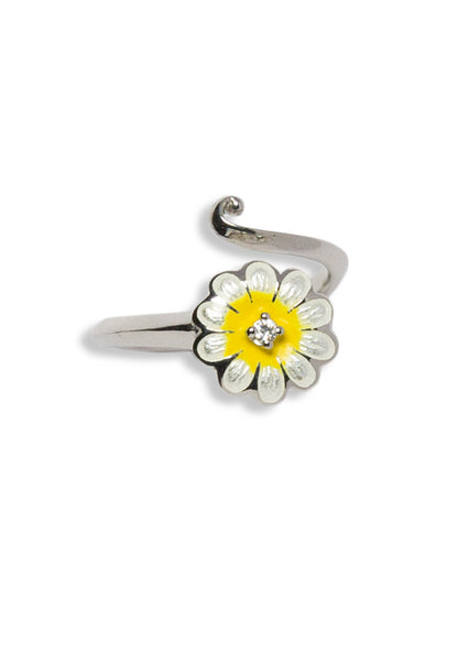 ENAMEL DAISY FLOWER RING