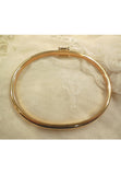 Vintage Monet Gold Tone Bangle with Crystal Baguettes