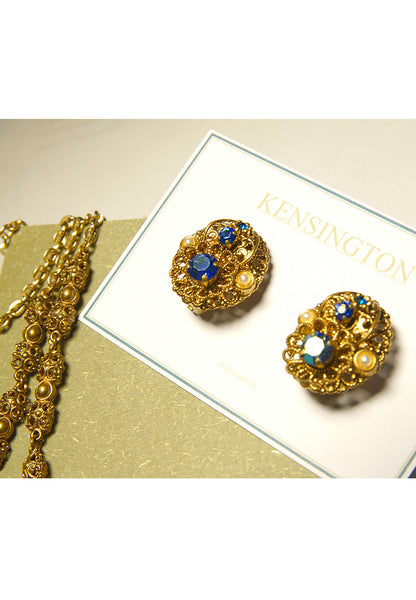 Vintage West Germany AB Rhinestone Earrings