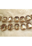 Vintage Imperial Topaz Coloured Acrylic Stone Metal Link Belt