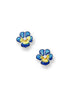 ENAMEL PANSY FLOWER DIAMOND EARRINGS