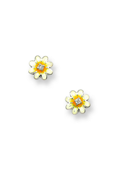 ENAMEL DAISY FLOWER EARRINGS