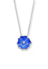 ENAMEL ROSE FLOWER DIAMOND NECKLACE