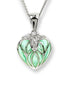 TRANSPERANT ENAMEL LANTERN FLOWER DIAMOND NECKLACE