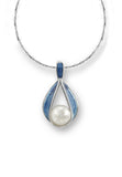 ENAMEL RIBBON PEARL NECKLACE