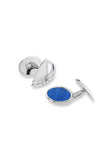 ENAMEL CUFFLINKS SAILBOAT & SEAWATER