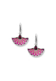 ENAMEL FAN RHODOLITE EARRINGS