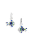 ENAMEL TOPICAL FISH DIAMOND EARRINGS