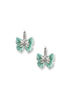ENAMEL BUTTERFLY DIAMOND EARRINGS