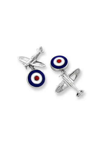 ENAMEL CUFFLINKS ROYAL AIR FORCE