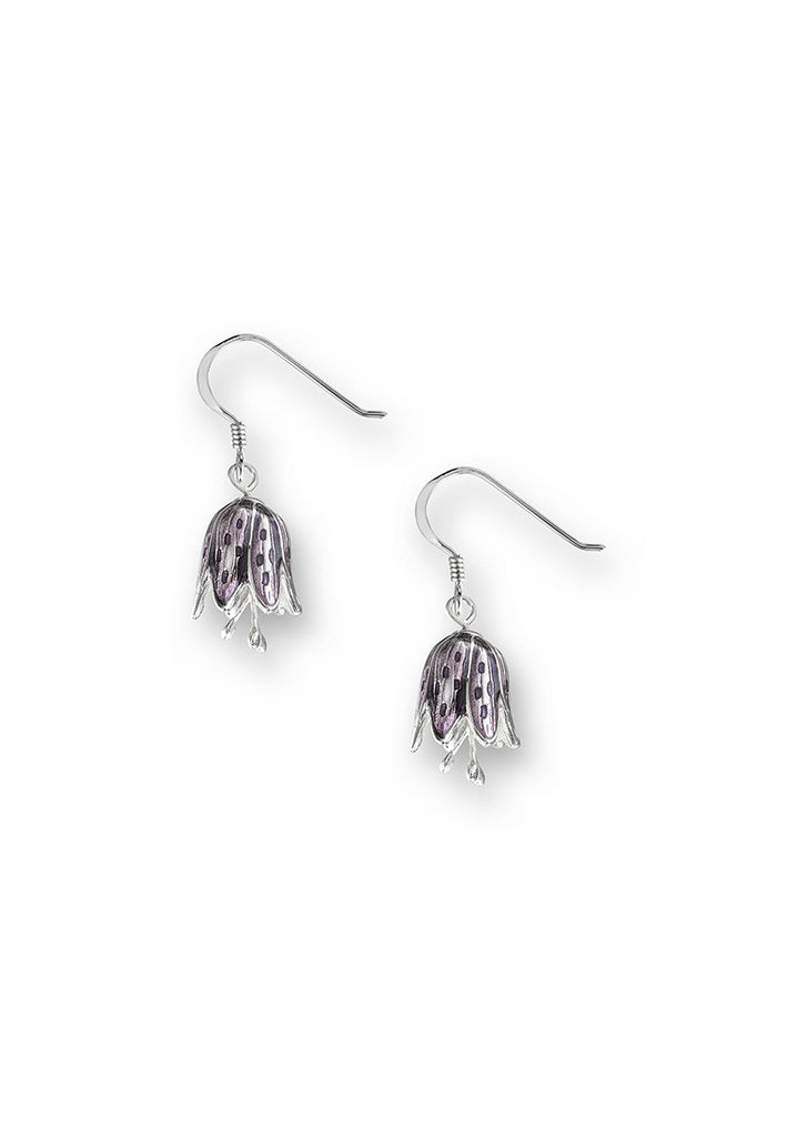ENAMEL LILY OF THE VALLEY EARRINGS