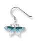 ENAMEL BUTTERFLY EARRINGS