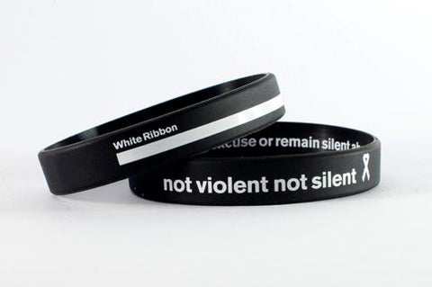 White Ribbon Wristband