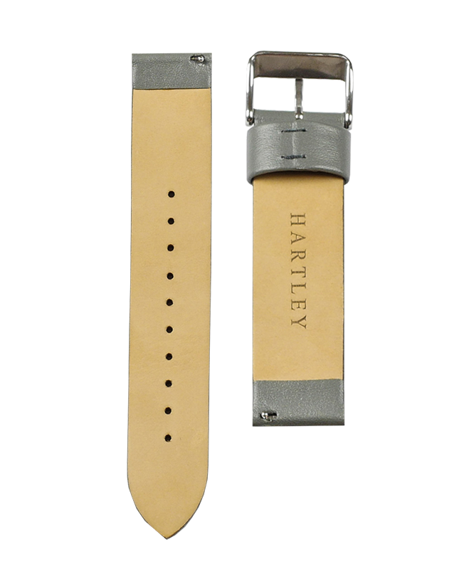 Hartley Grey Leather Strap