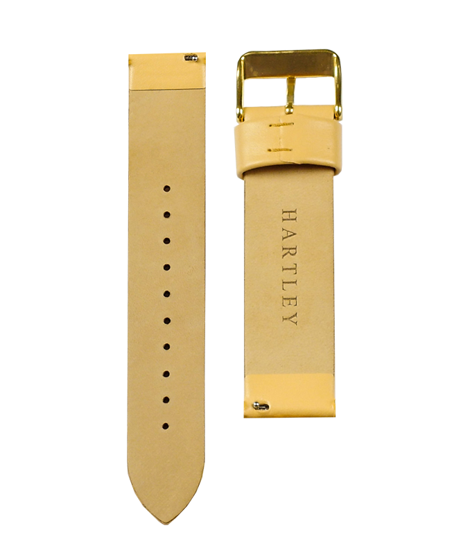 Hartley Peach Leather Strap