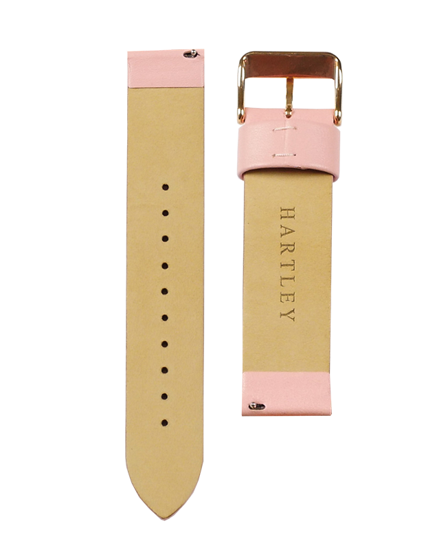 Hartley Pink Leather Strap