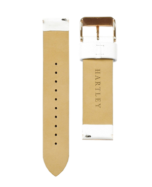 Hartley White Leather Strap