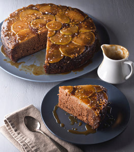 Kerbey Lane Cafe's Bourbon Pear Gingerbread Upside Down Cake