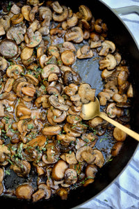 An Easy, Healthy Side Dish: Miso-Roasted Mushrooms with Tarragon