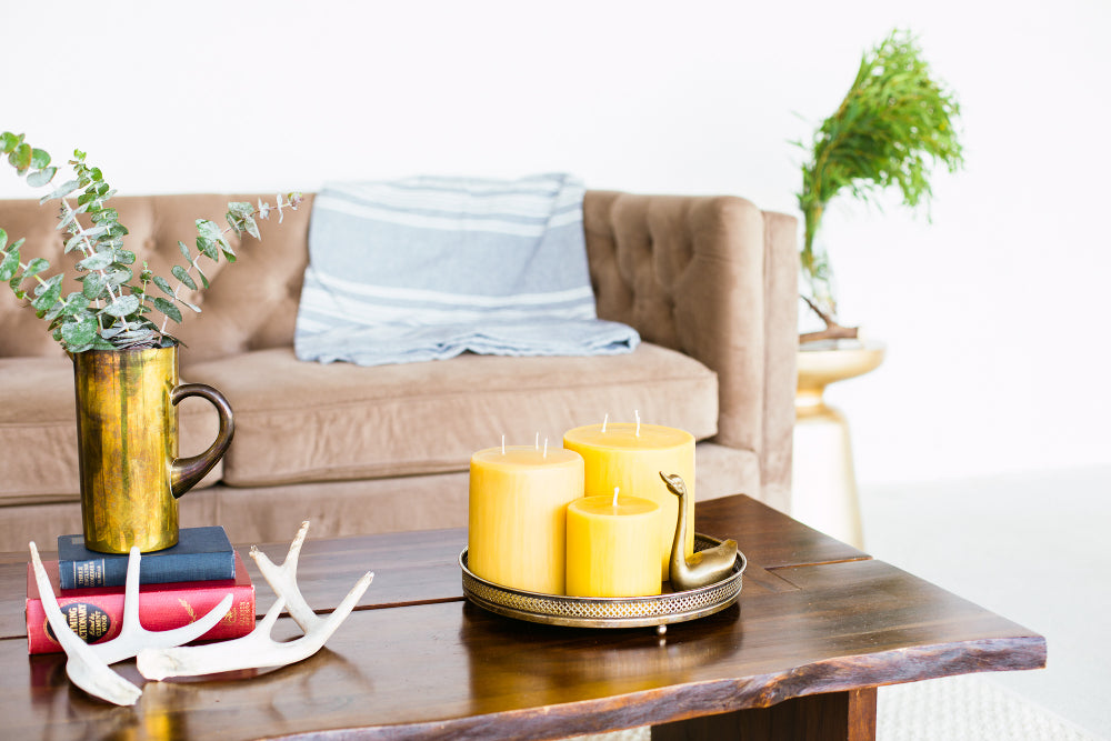 Bees Wax Co. Candles in Living Room
