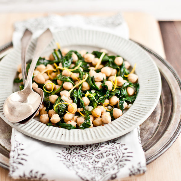 Yummy Summer Chickpea and Dandelion Greens
