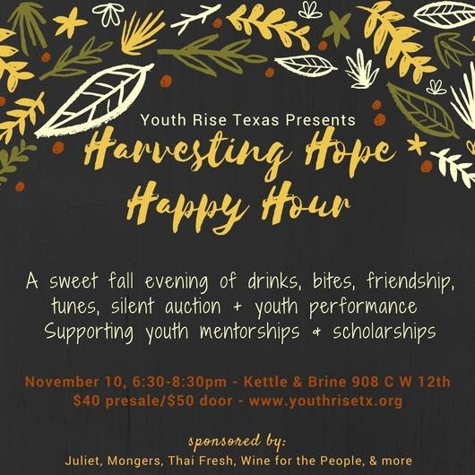 Harvesting Hope for Youth Rise 11/10 6:30-8:30PM