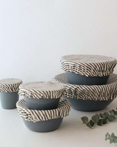 Linen Fitted Bowl Cover Set