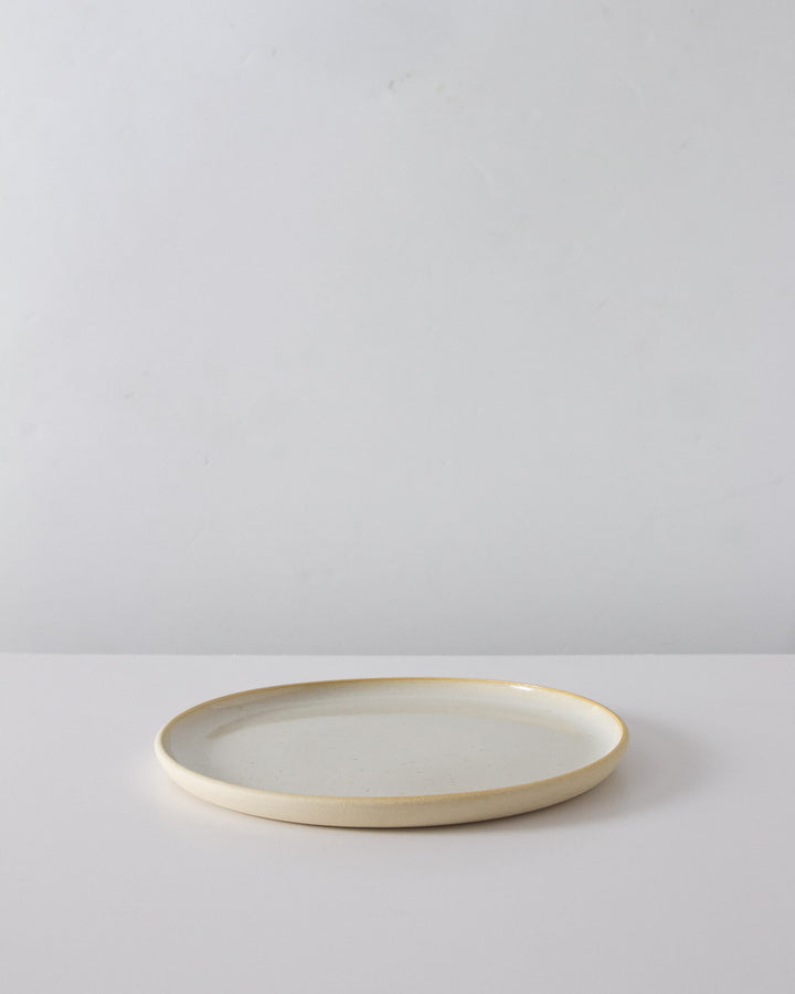 Everyday Handmade Dinner Plate in Speckled White
