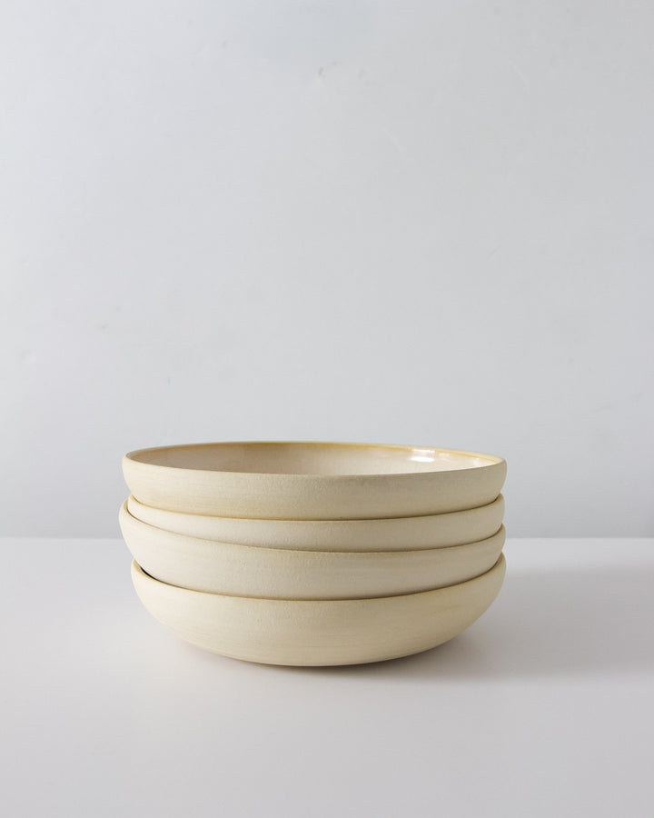 Everyday Handmade Bowls in Speckled White