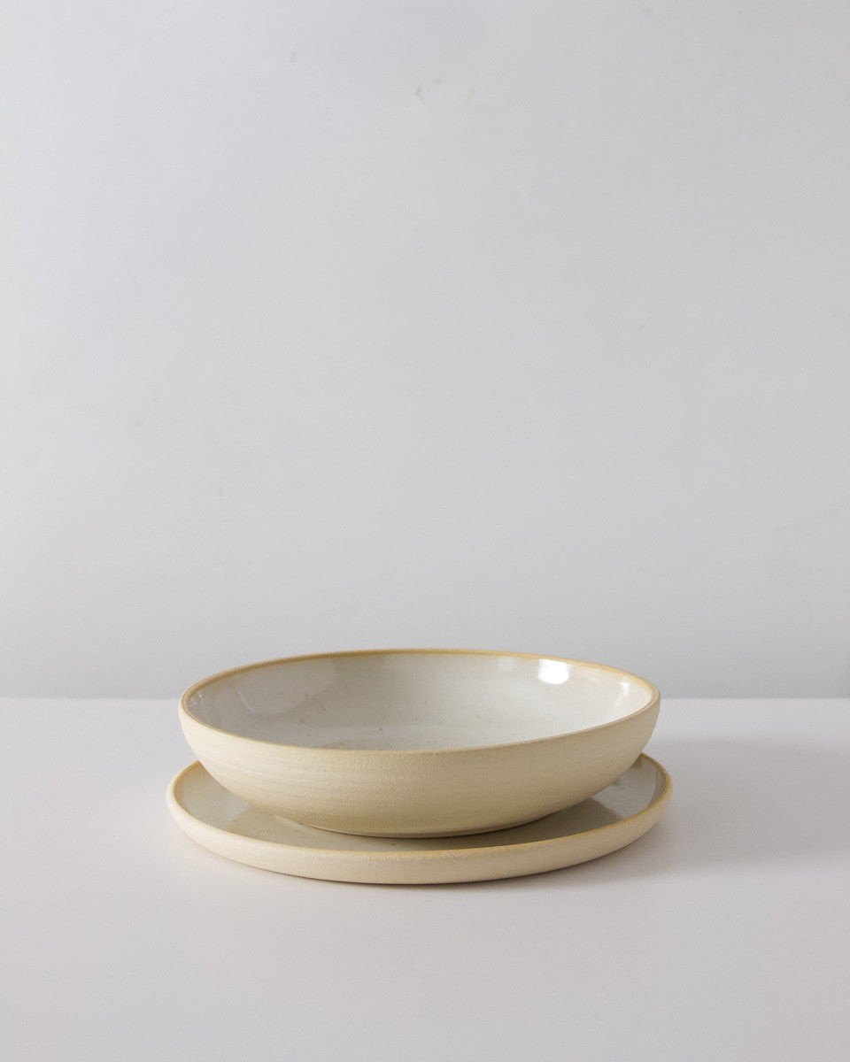 Everyday Handmade Dinnerware in Speckled White