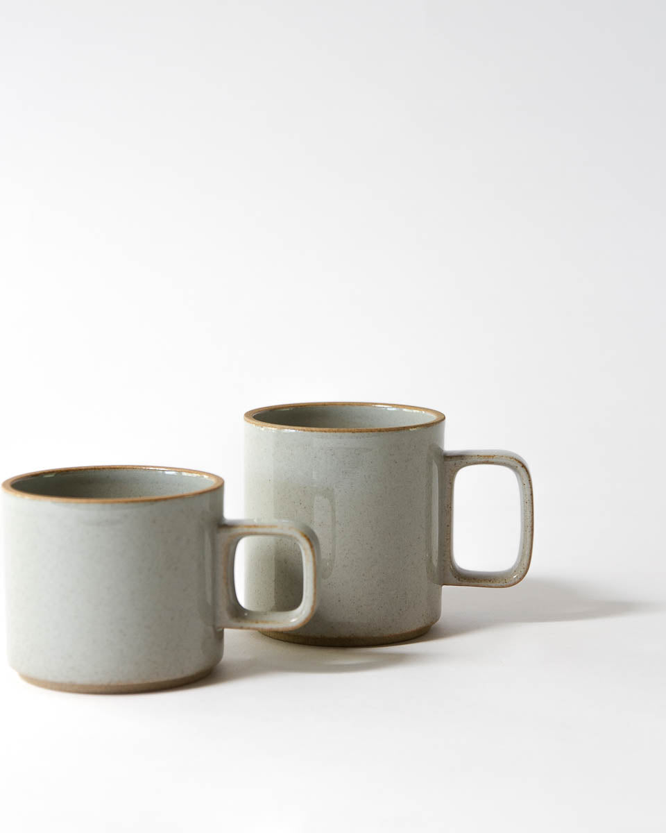 Porcelain Mugs in Grey Gloss