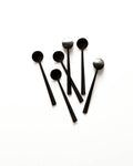 Set of 6 Black Mini Spoons