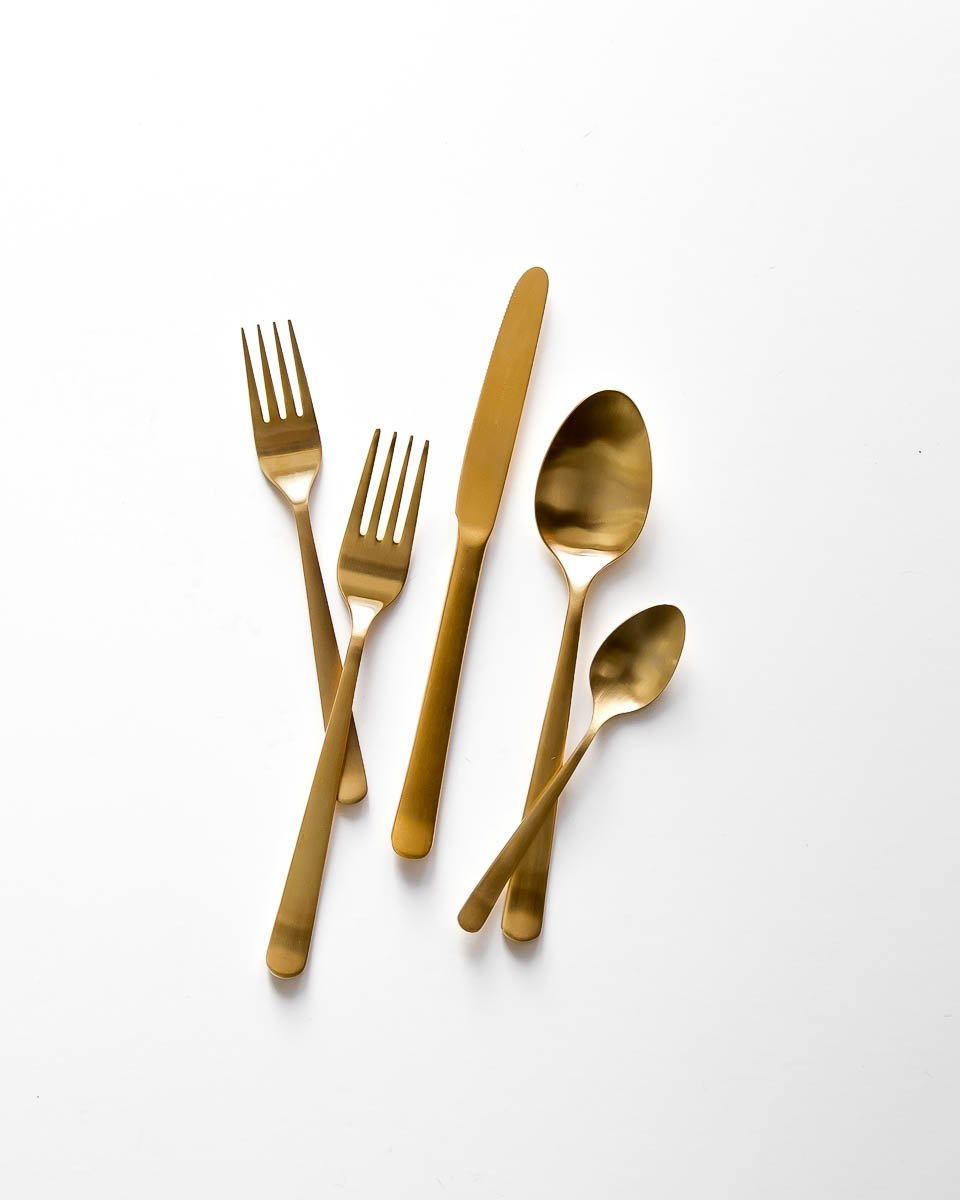 Oslo Flatware in Gold