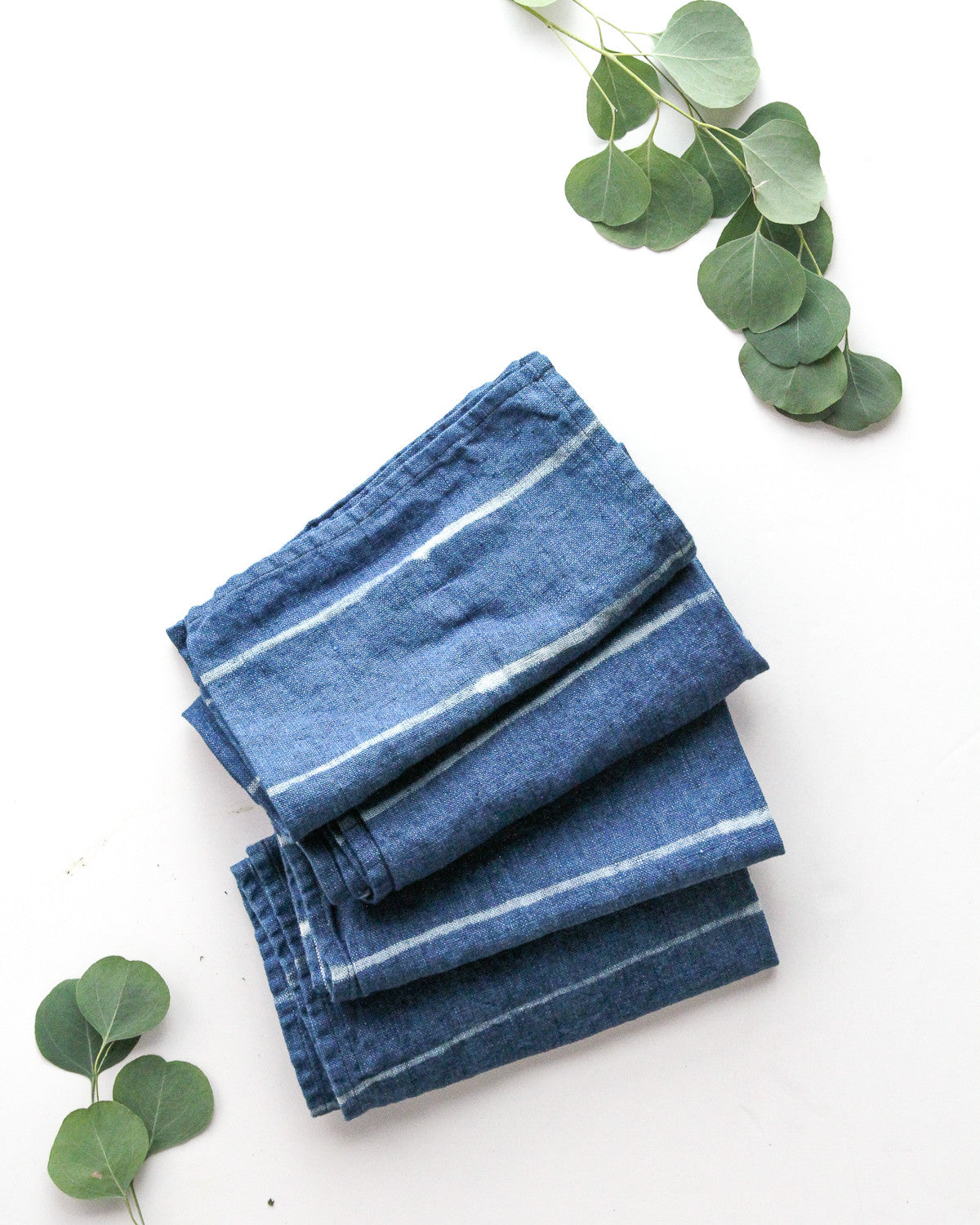 Indigo Linen Napkin - Set of 4