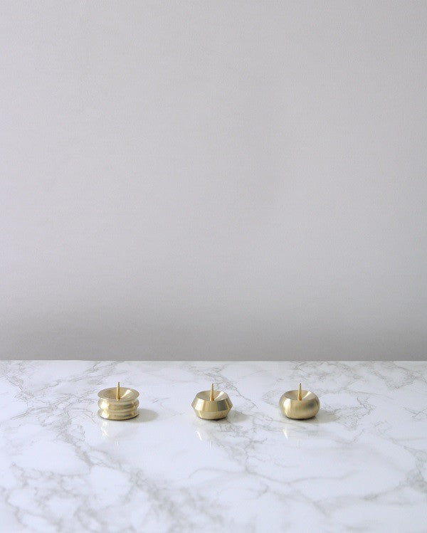 Japanese Brass Candle Holders
