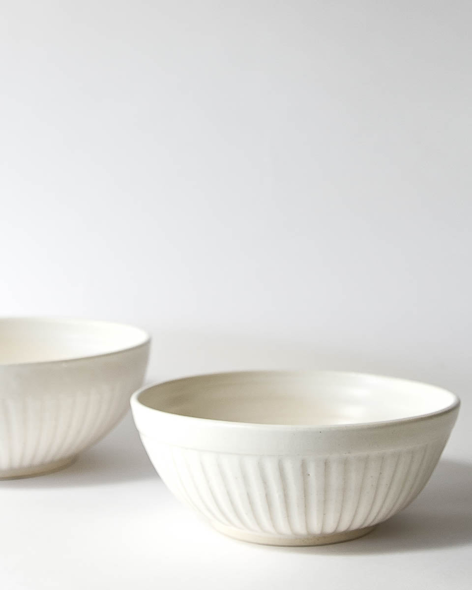 White Serving Bowl