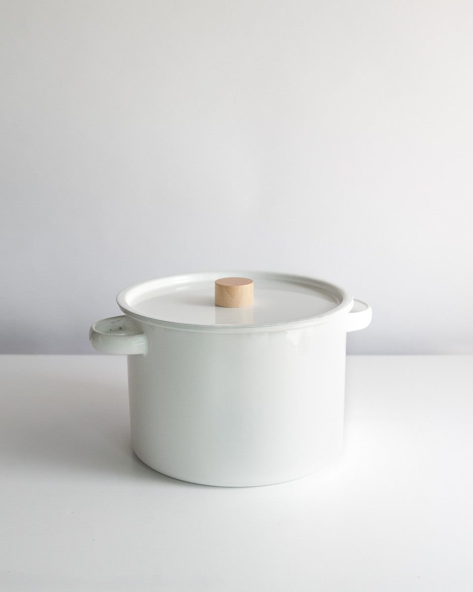 Enameled Stock Pot w/ Strainer Insert